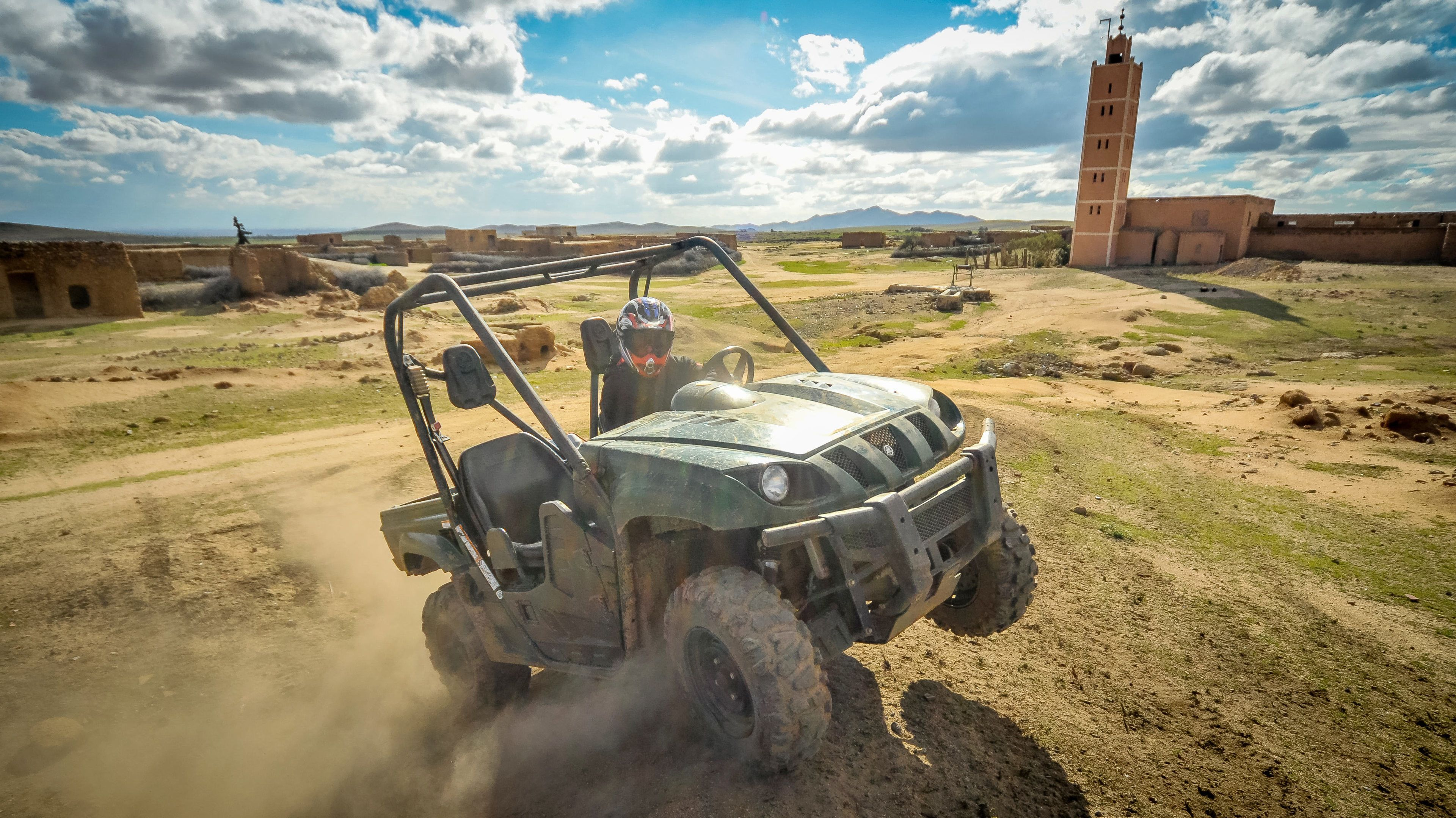 Person on Desert Buggy Tour in Jbilets Mountains of Marrakech