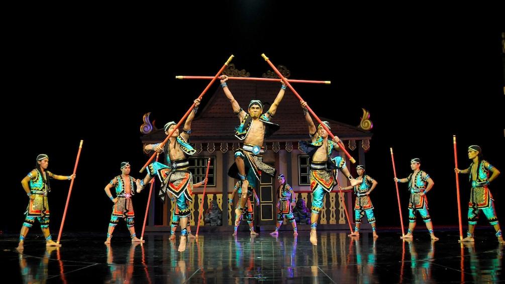 Tampilkan item 5 dari 5. Devdan Show dancers onstage in Bali