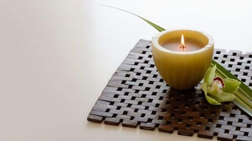 Candle at the Pañpuri Thai Organic Massage