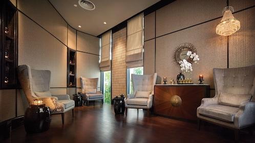 Lounge room for the Pañpuri Thai Organic Massages at the Pañpuri Organic Spa Penang