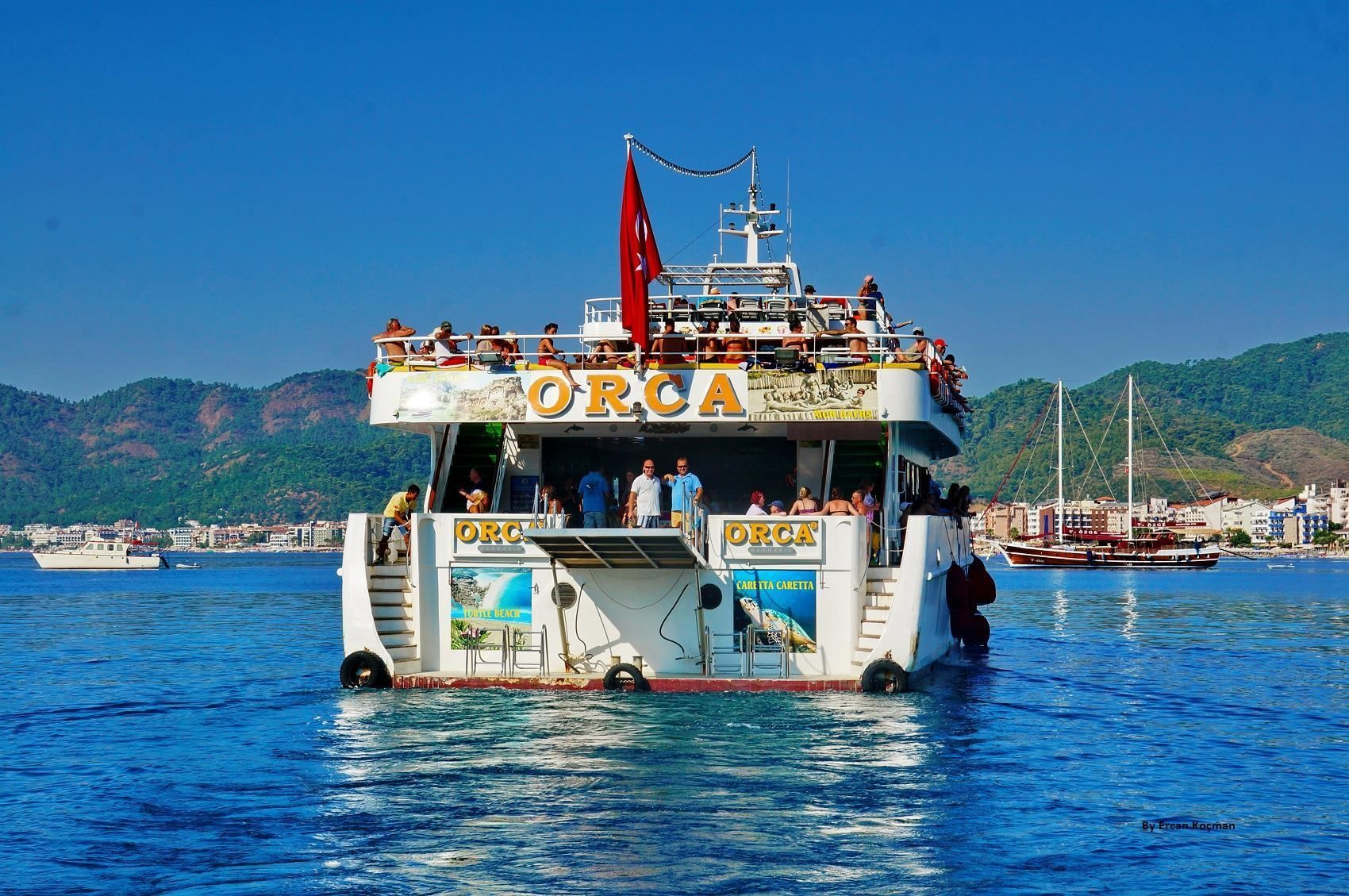 Dalyan by Boat Trom Marmaris Turtle Beach
