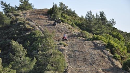 steep dirt hill