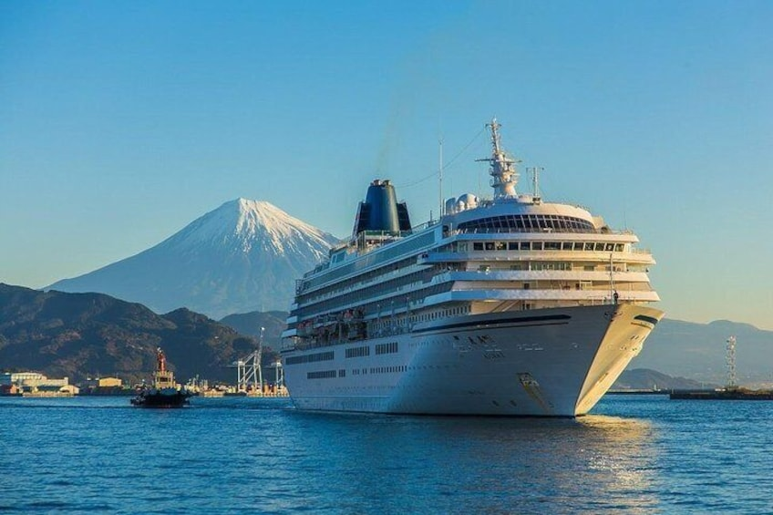 Cruise ship, Mt.Fuji, Shimizu Port