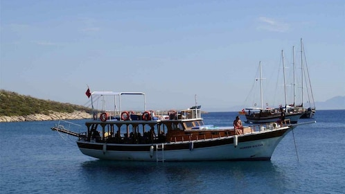 boat on the water in Istanbul