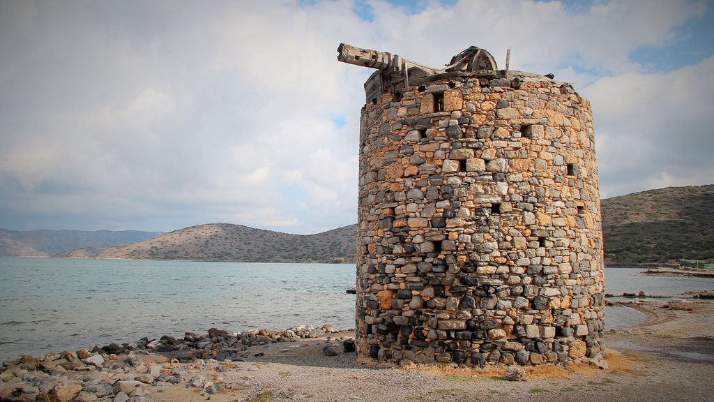stone structure at coast