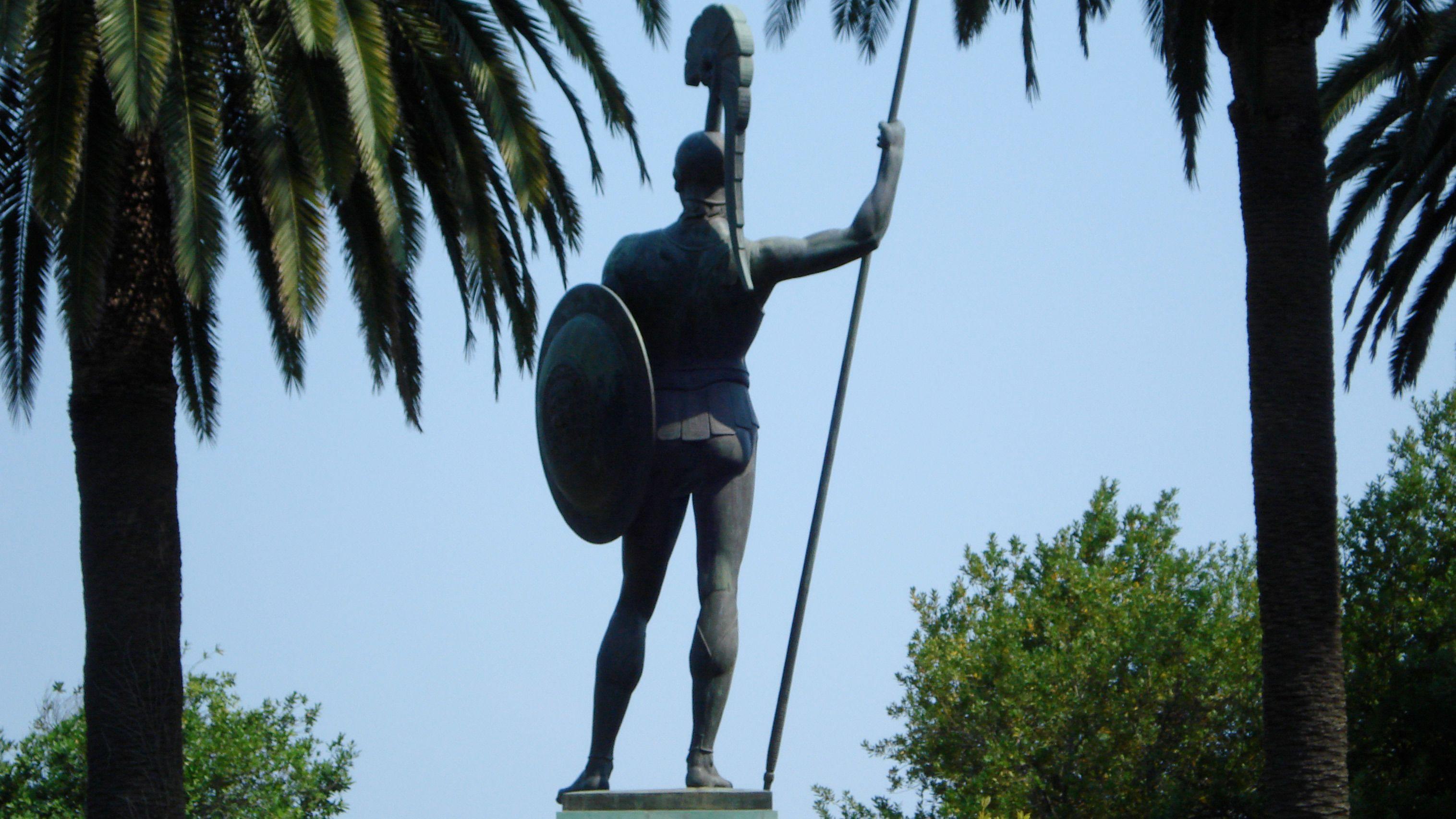 Statue of Achilles on Corfu