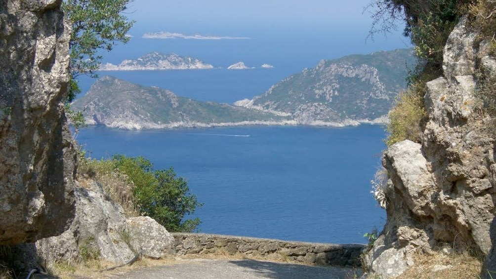 Show item 5 of 5. View of islands from a lookout on Corfu