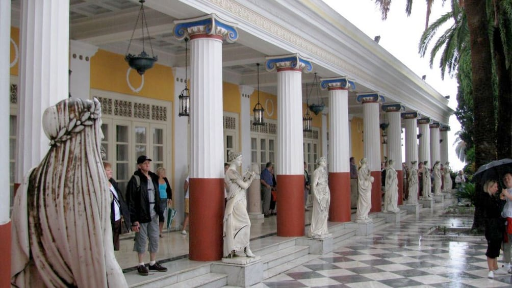Show item 3 of 5. Pillars and marble floor of the Corfu Museum