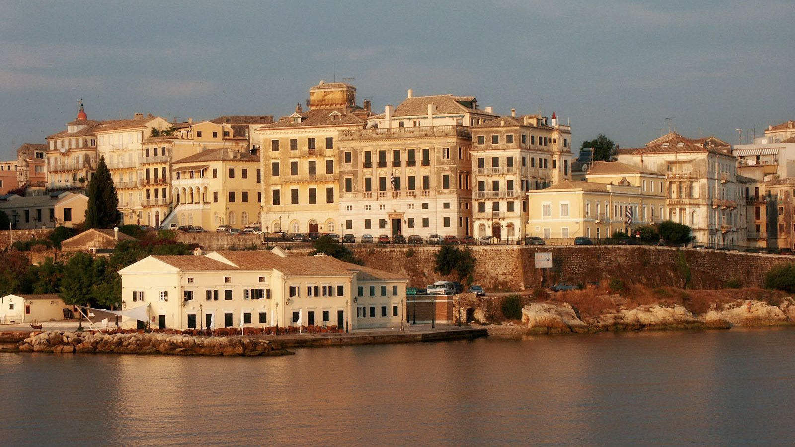 Cityscape from the water on Corfu
