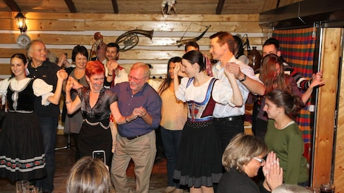 people dancing in prague