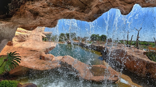 Waterfall feature in Agadir