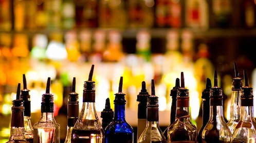 liquor bottles at bar in agadir
