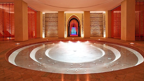 luxury relaxation hot tub at the spa in Morocco