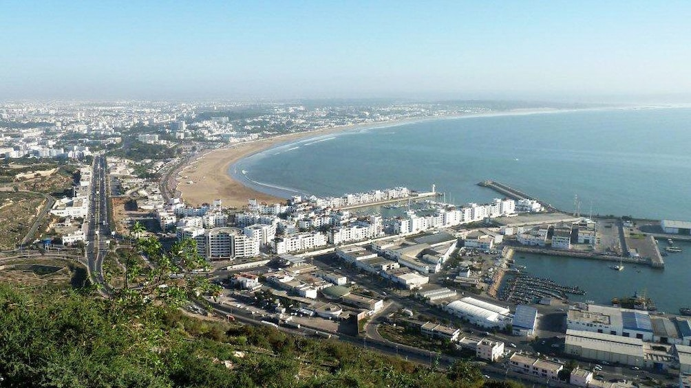Show item 2 of 5. Panoramic view of the city and coastline in Agadir