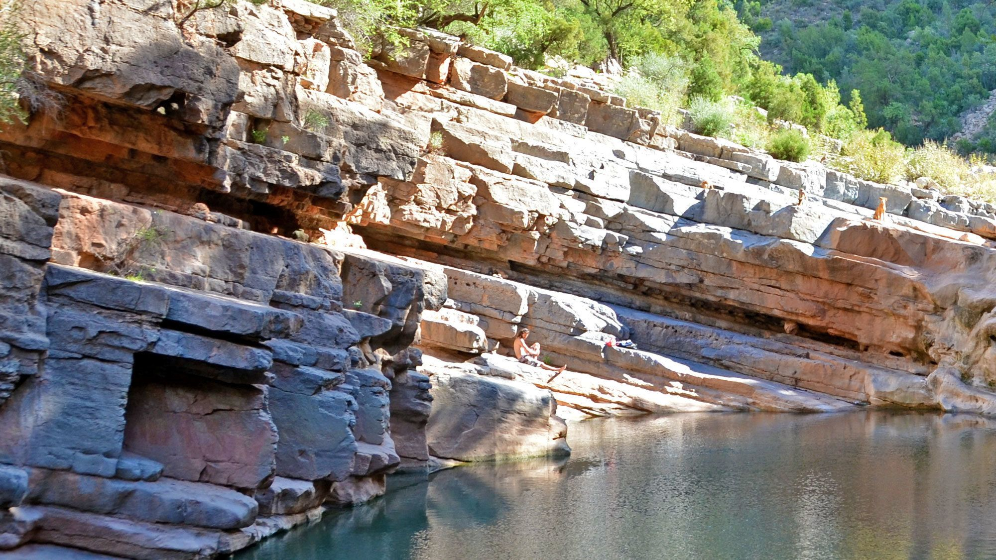 Cliffs and rock pool in Paradise Valley