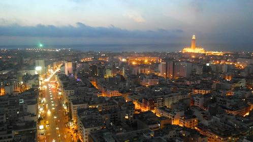 Evening skyline of Casablanca
