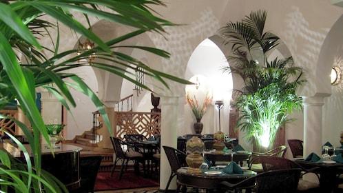 Interior of Rick's Cafe in Casablanca, Morocco