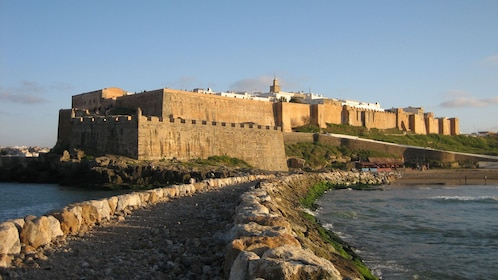 large stone fort in casablanca