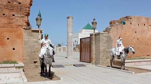 knights guarding gated entry