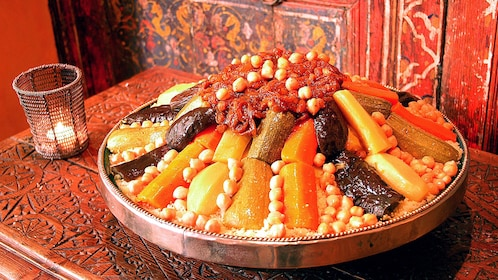 large vegetable dish to eat in casablanca