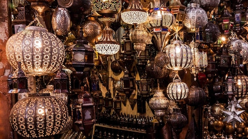 Lantern shop within Djemaa El Fnaa Square in Marrakech