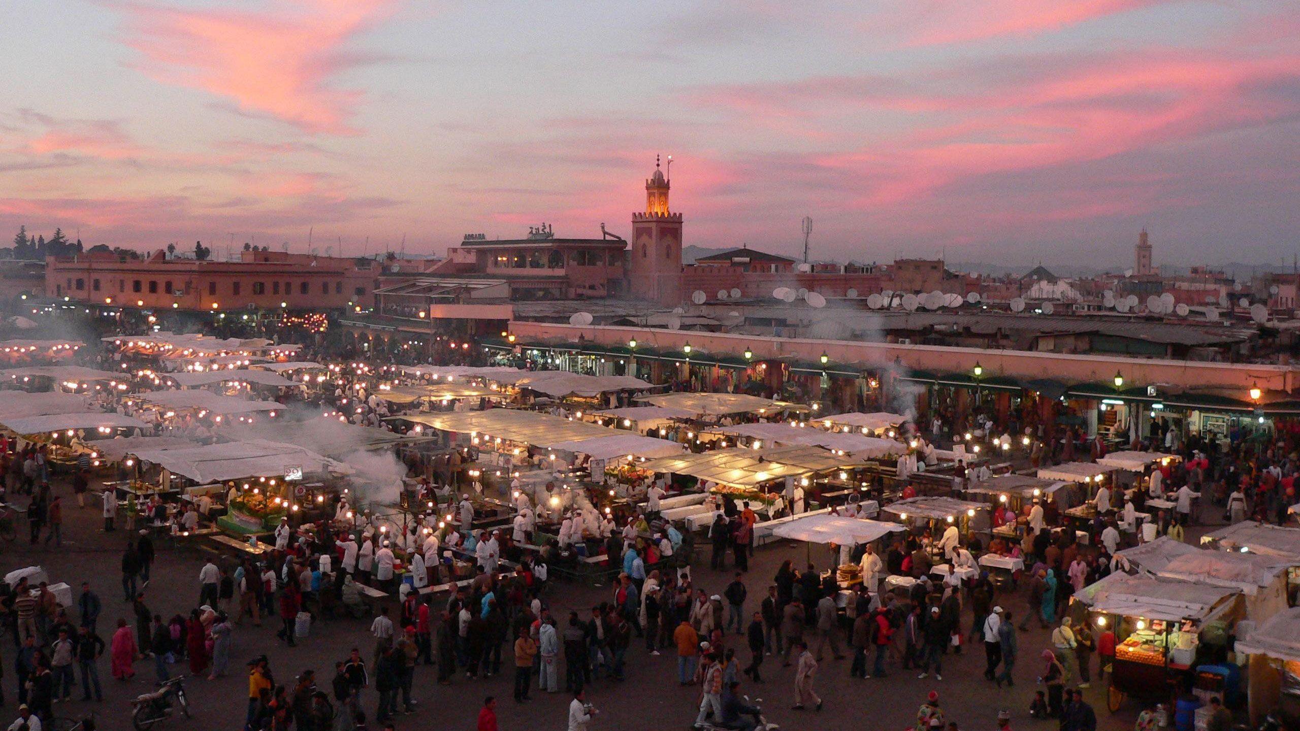 Djemaa El Fnaa Square in Marrakech, Morocco