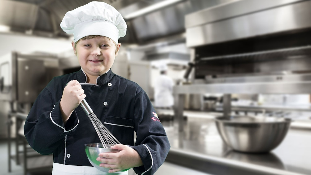 child dressed as a chef in Dubai