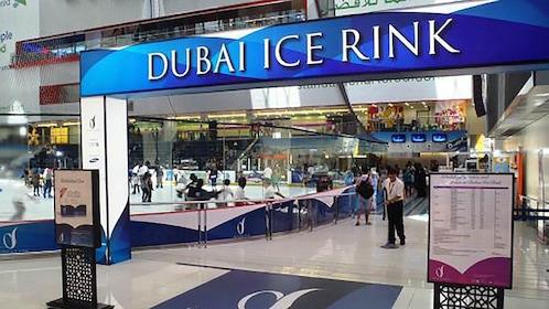 entrance of dubai ice rink
