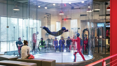 Skydiving chamber at IFLY