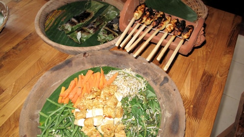food on table in bali
