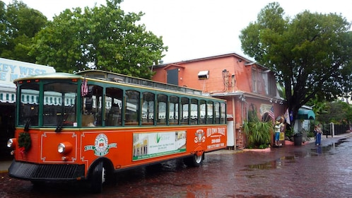A Hop on Hop off trolley in Key West