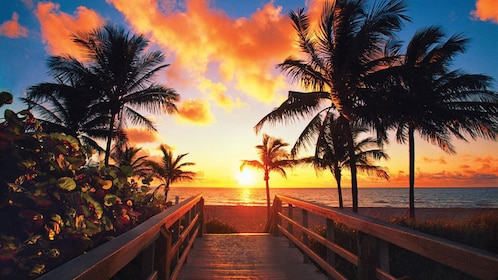 Looking out at a colorful sunset in Key West