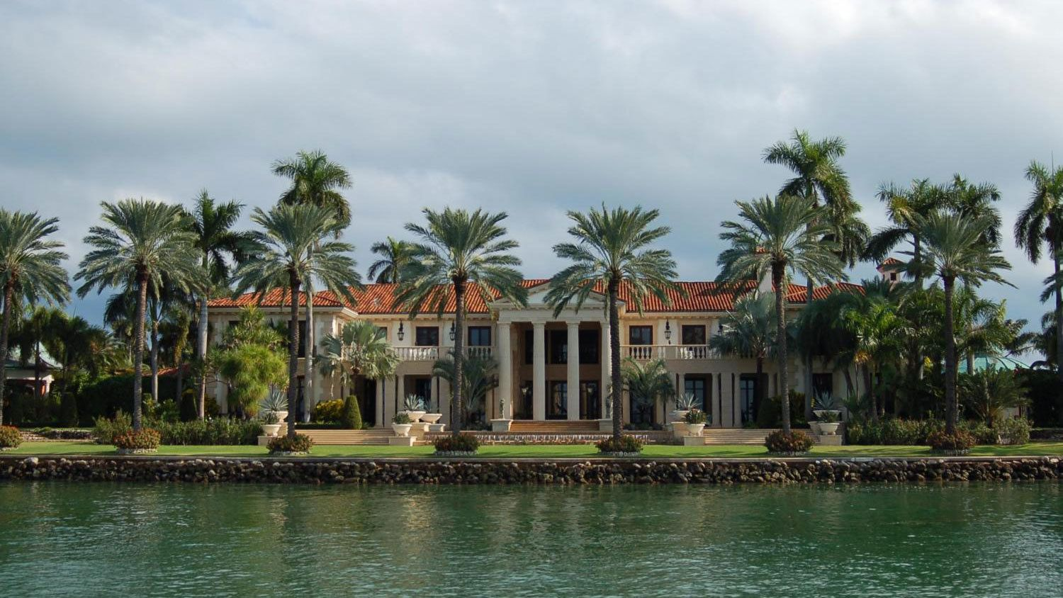A waterfront mansion in Miami