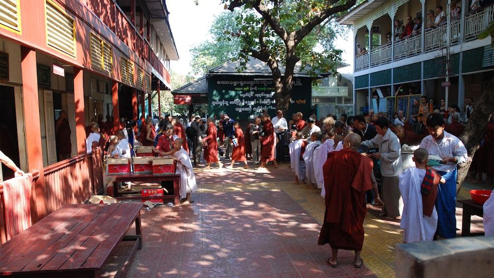 Buddhist Mahagandayon in Mandalay
