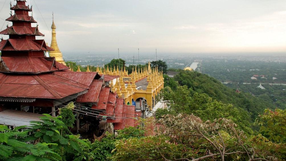Stunning view above Mandalay Hill