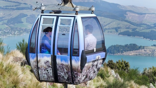Couple enjoying a Port Hills Gondola Experience in Christchurch