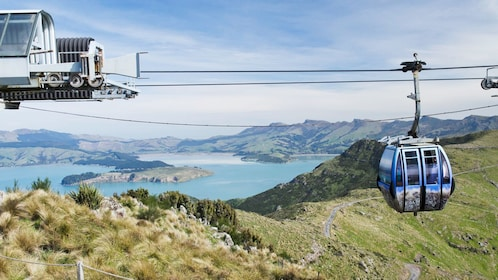Landscape view of the Port Hills Gondola Experience in Christchurch