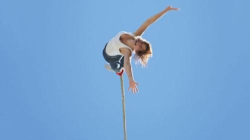 Woman Bungee Jumping at Hanmer Springs