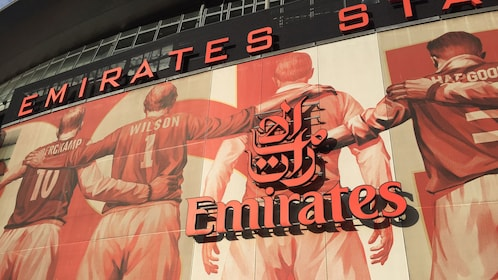 Sign outside the Emirates Stadium in London