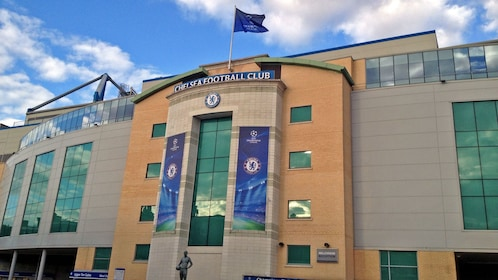 Outside the Chelsea Football Match at Stamford Bridge Stadium in London