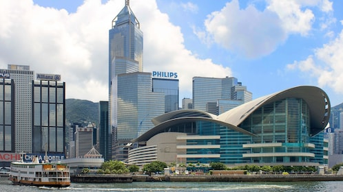 Breathtaking Hong Kong skyline seen from Victoria Harbor