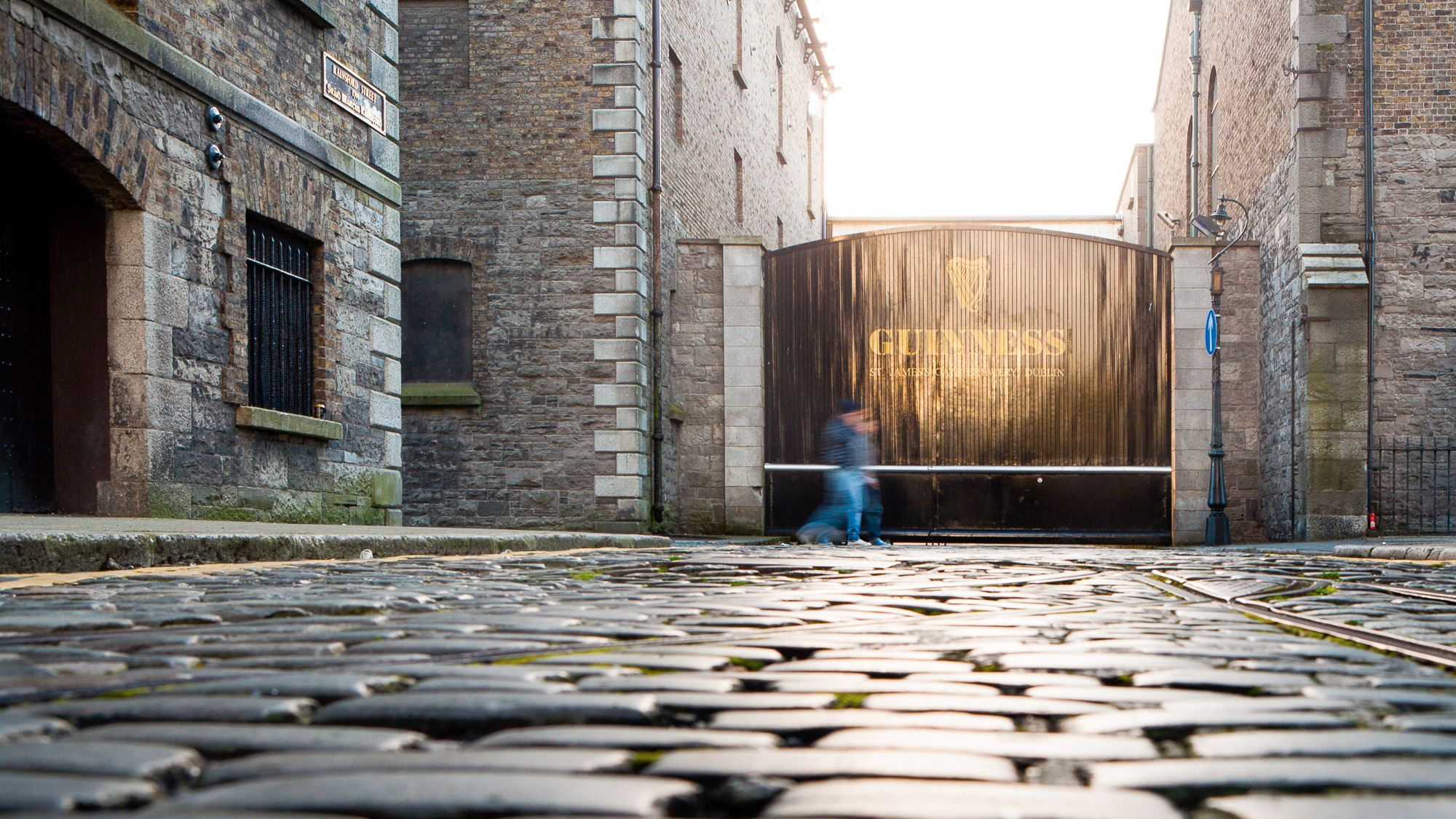 Front of Guinness Dublin Brewery in Dublin