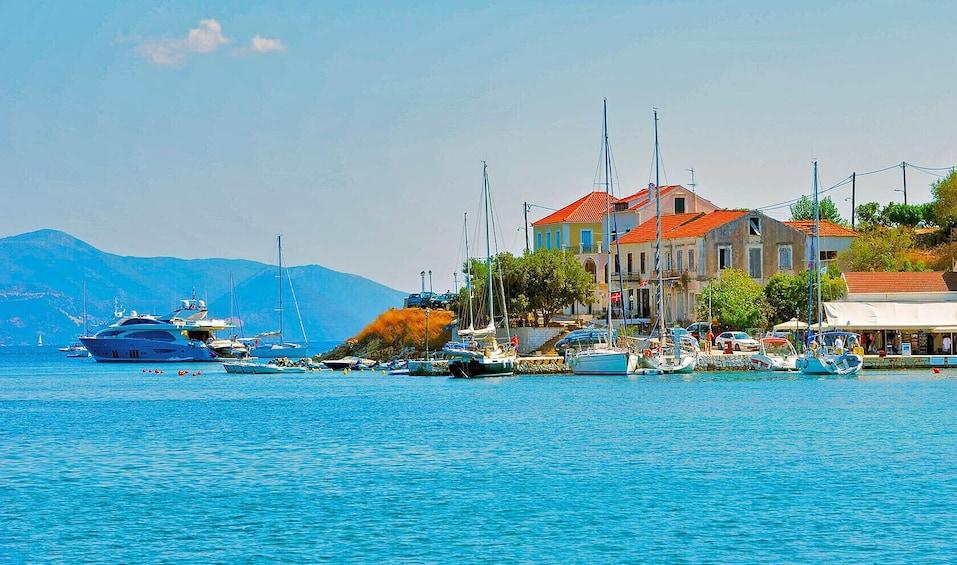 Show item 1 of 8. Kefalonia: Fiscardo & Melissani Lake Coastline Cruise