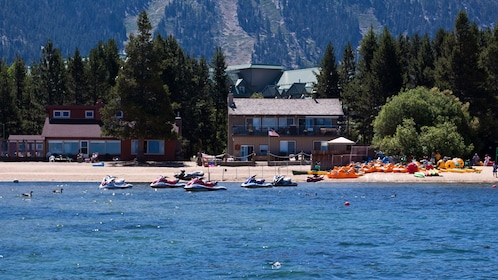 Sunny day at the beach in Lake Tahoe