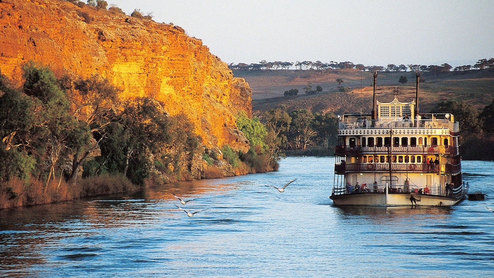 Show item 1 of 6. ferry navigating the Murray River in Australia