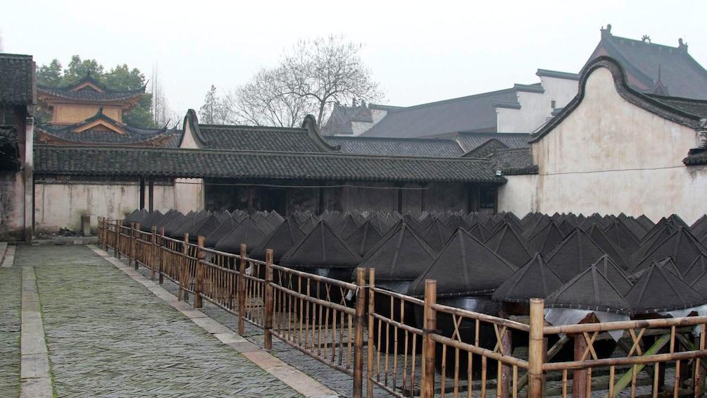 large fermentation jars in Wuzhen
