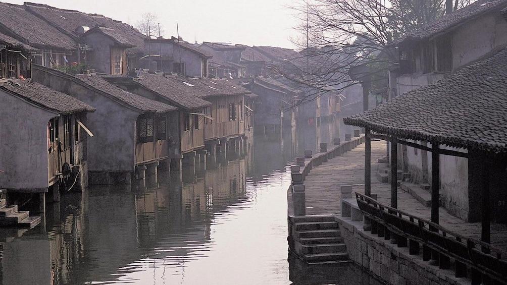 old buildings along the waterways in Wuzhen