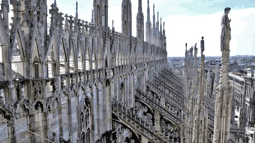 elaborate cathedral architecture in Florence