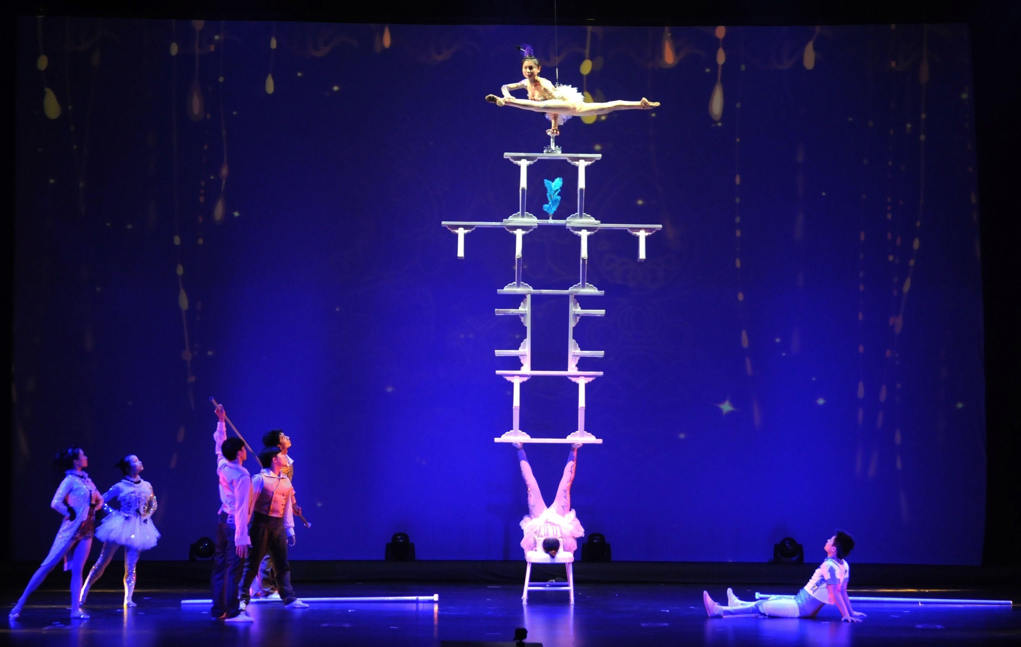 Chinese Acrobatics Show & Evening City Lights Coach Tour