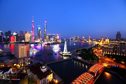 Evening City Lights & Huangpu River Cruise Coach Tour